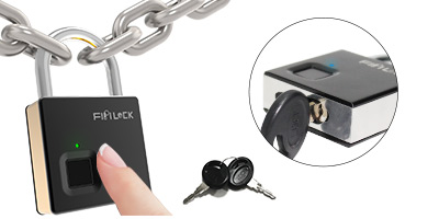 FL-S5 Fingerprint & Key Heavy Security Padlock