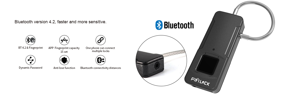 bluetooth fingerprint padlock