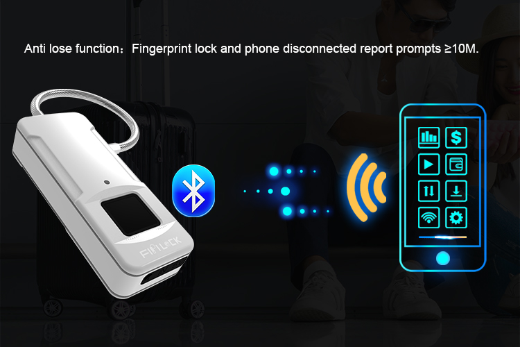 Bluetooth Smart Fingerprint Padlock is the perfect connected device to keep your belongings secure.
