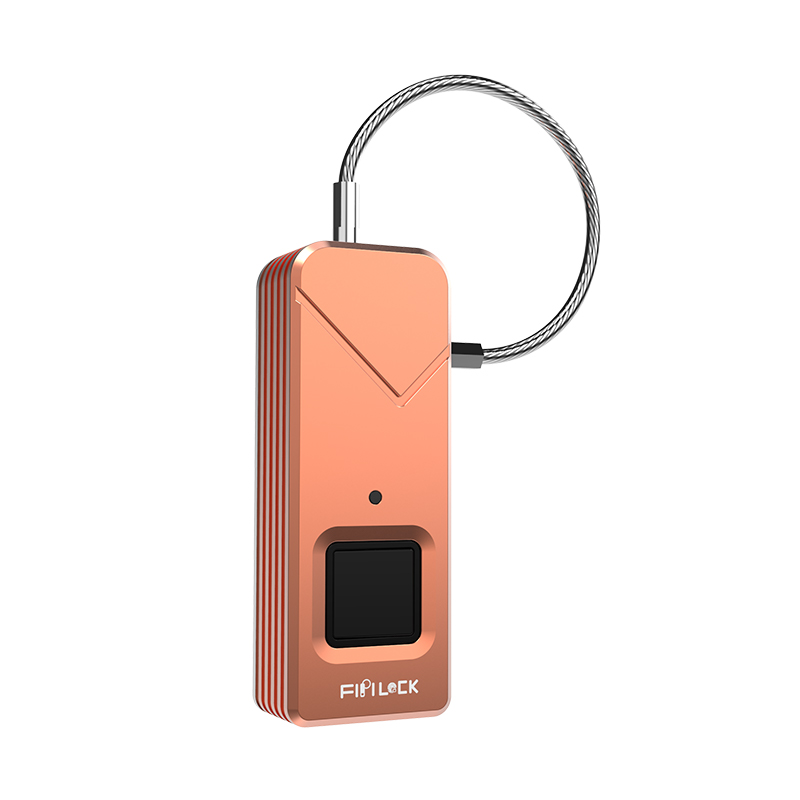 Top security smart biometric fingerprint padlock FL-S2 (Rose Gold)