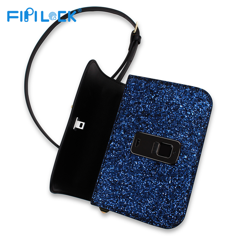 FL-V6 Girls sequins versatile small square bag smart shoulder Messenger bag